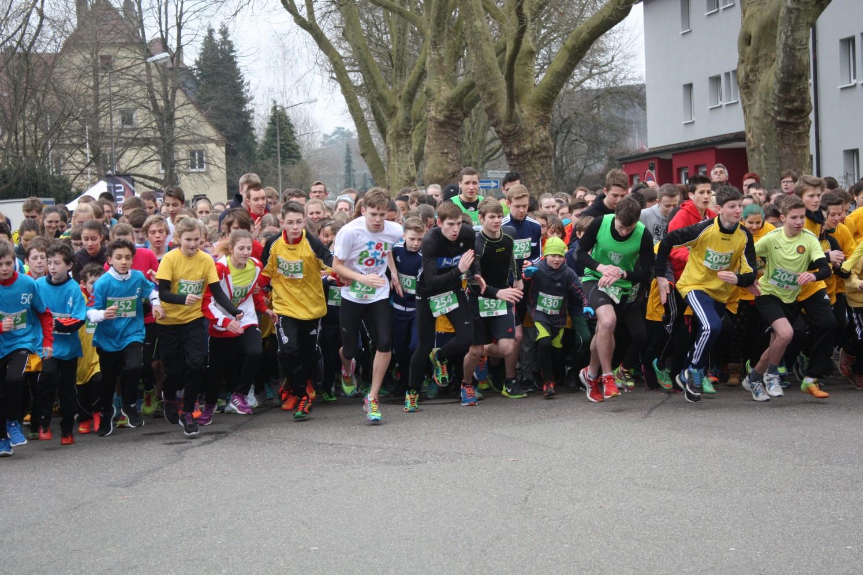 Start der Schüler beim Stadtlauf Schwäbisch Gmünd