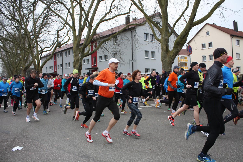 Teilnehmer in Action beim Gmünder Stadtlauf