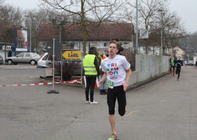 Jugendlicher Läufer beim Gmünder Stadtlauf