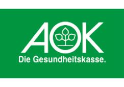 Logo der AOK Gesundheitskasse für den Gmünder Stadtlauf