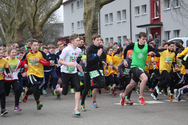 Startschuss für den Schülerlauf des Gmünder Stadtlauf