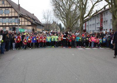 Kinder am Start des Bambini-Lauf beim Gmünder Stadtlauf