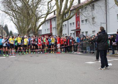 Teilnehmer am Start beim Gmünder Stadtlauf Schwäbisch Gmünd